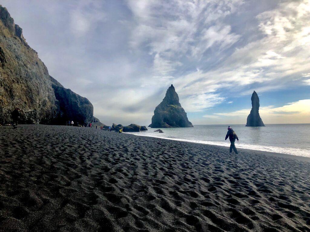 Renisfjara beach by the fishing village of Vik in Iceland
