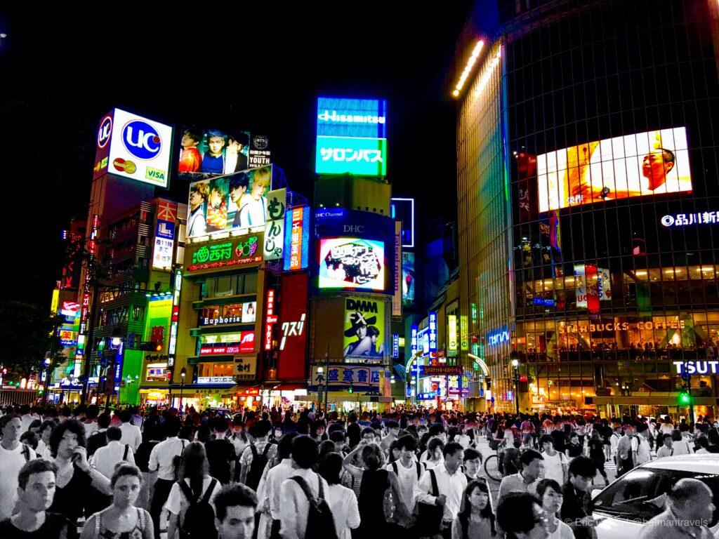 shibuya crossing tokyo 2016