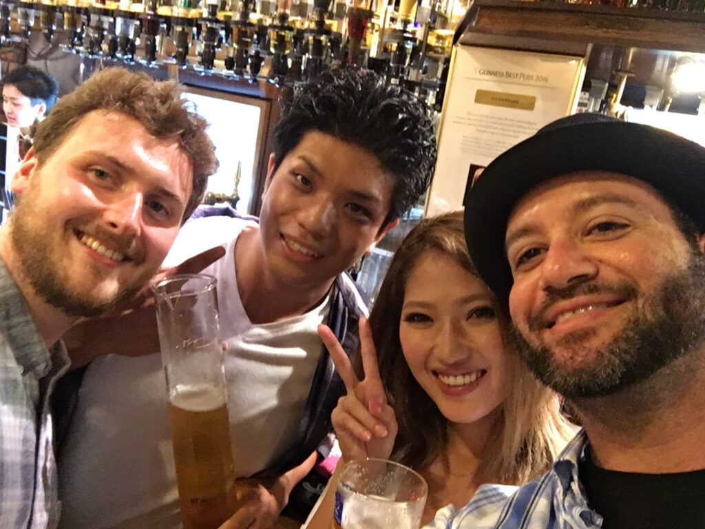Tokyo pub tequila party