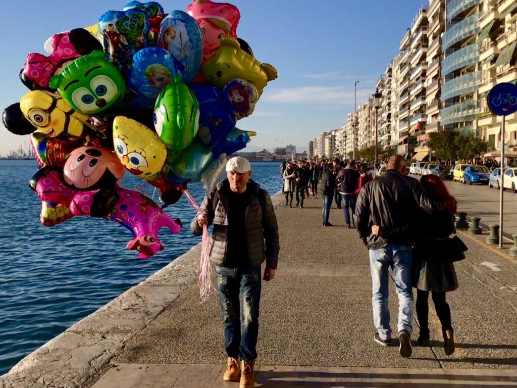 thessaloniki boardwalk balloons