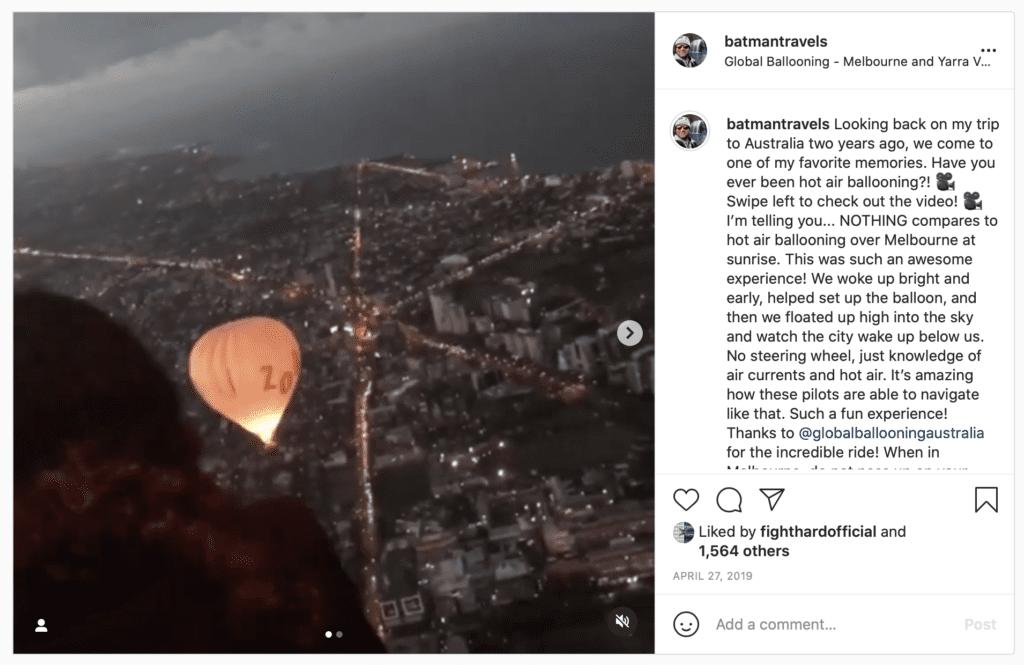 batmantravels instagram hot air balloon
